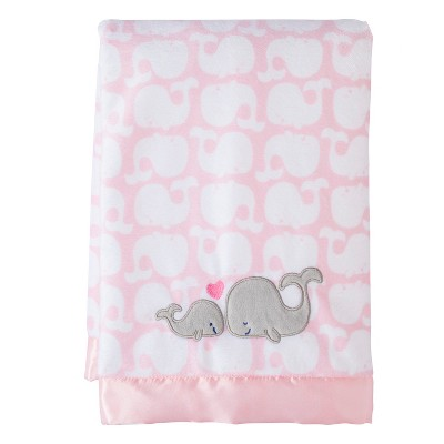 Just One You Made by Carter's®  Girl 2 Ply Blanket satin trim