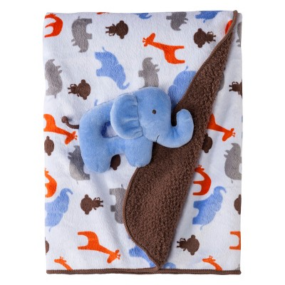 Just One You Made by Carter's®  2 Ply Blanket with Elephant Rattle