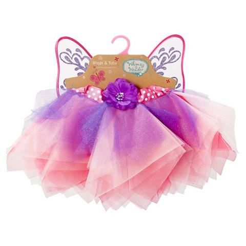 Whimsy & Wonder Wings & Tutu Set - Pink/Purple