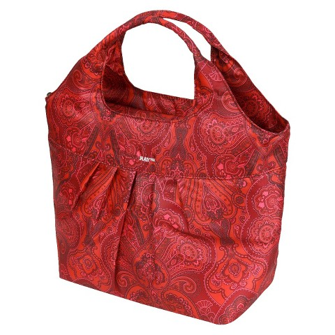 RACHAEL RAY PLEATED MEAL CARRIER - HENNA RED