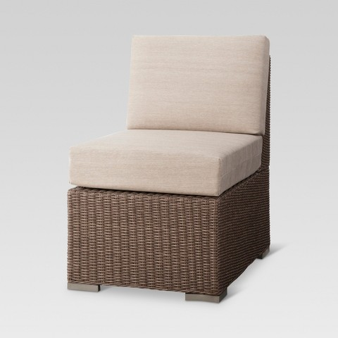 Heatherstone Wicker Patio Sectional Armless Chair - Threshold™