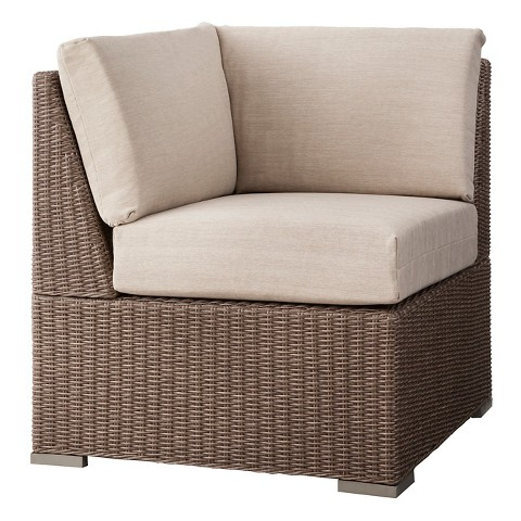 Threshold Heatherstone Wicker Patio Sectional Corner Seat