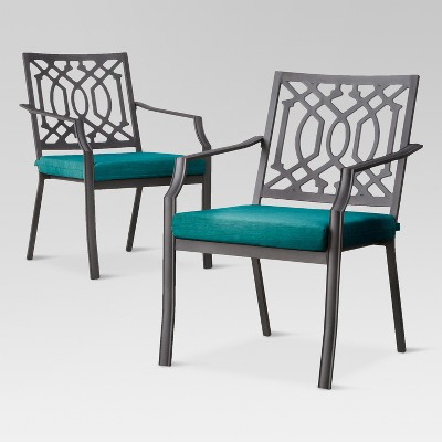 Patio Dining Chair: Threshold Harper 2 Piece Metal Patio Dining Chair Set