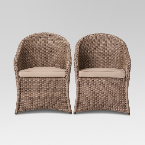 Threshold™ Holden 2-Piece Wicker Patio Dining Chair Set