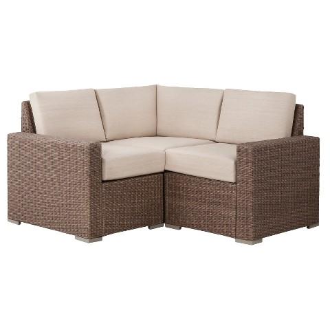 Threshold™ Heatherstone Wicker 3-Piece Patio Sectional Seating Furniture Set