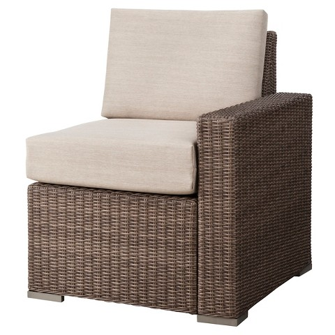 Heatherstone Wicker Patio Sectional Left Arm Chair - Threshold™