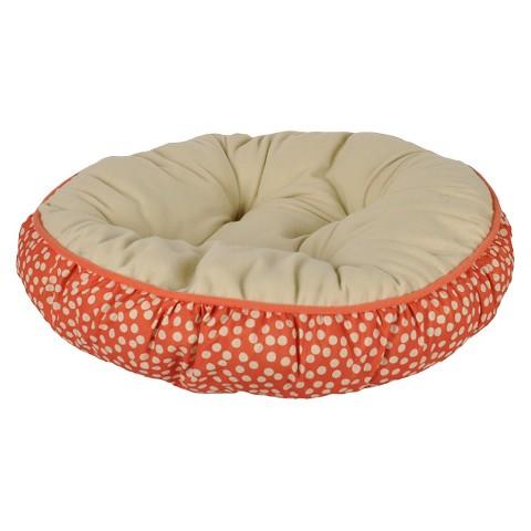 Boots & Barkley™ Dog Bed - Orange/Grey (Small)