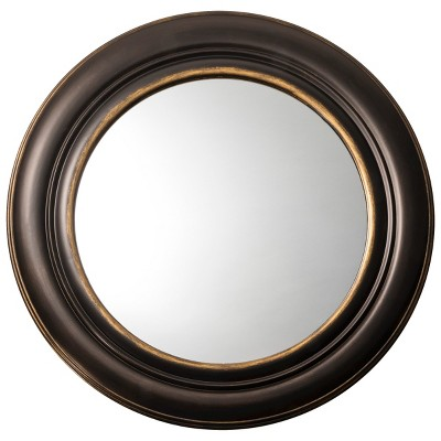 Round Wide Patina Mirror - Threshold™