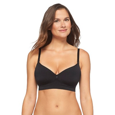 Women's Nursing Seamless Bra Black L - Gilligan & O'Malley®