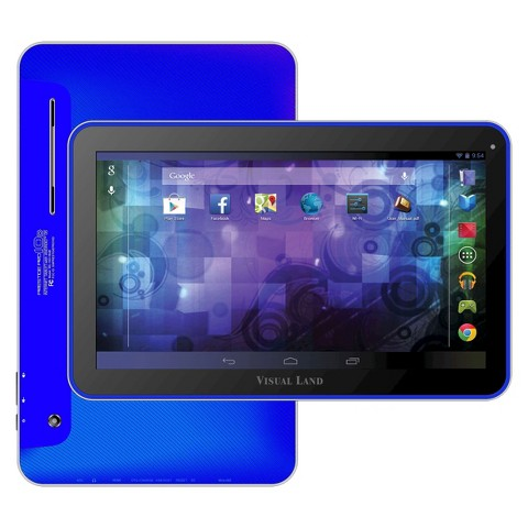 Visual Land Prestige 10D Dual Core 16GB Android 4.2 Tablet with Google Play - Assorted Colors