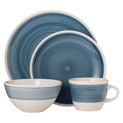 Threshold™ Bistro Ceramic 16 Piece Dinnerware Set - Blue