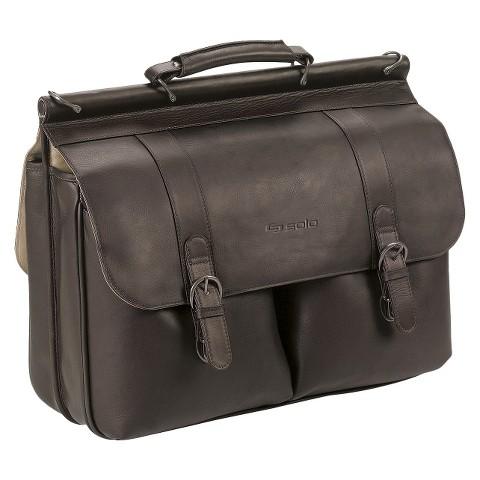 """Solo® Classic Leather Briefcase - Espresso (16"""")"""