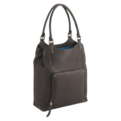 """Solo® Vintage Leather Bucket Tote - Espresso (16"""")"""
