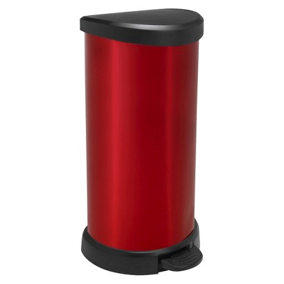 Curver 40 Liter Round Step Open Trash Can