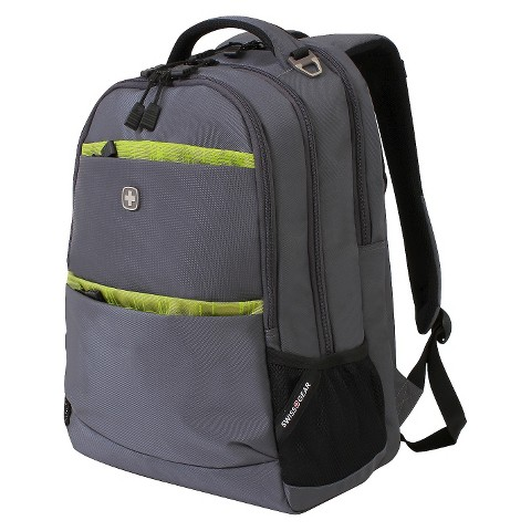 SwissGear Backpack - Solid Gray w/ Lime