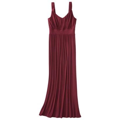 Merona® Women's Knit V-Neck Ruched Waist Maxi Dress - Assorted Colors
