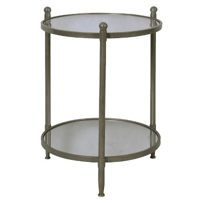 Threshold™ Two Tier Round Table - Antiqued Pewter