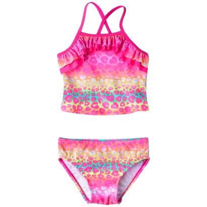 Circo® Infant Toddler Girls 2-Piece Cheetah Tankini Swimsuit Set