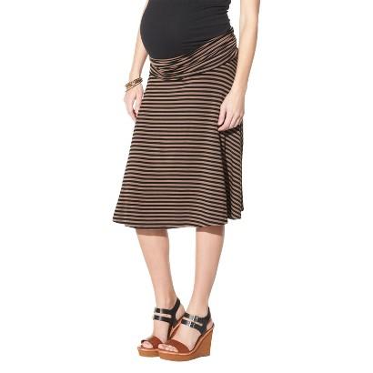 Maternity Fold Over Waist Knit Skirt Gray/Black-Merona®