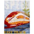 Wall Canvas - Speed Train 14x18