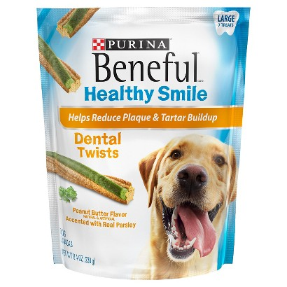 Purina Beneful Healthy Smile Twists Dental Dog Treats Large 7 ct