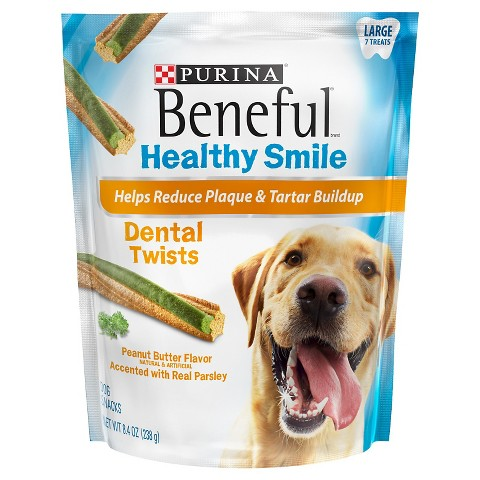 Purina Beneful Healthy Smiles Dental Ridges Peanut Butter 8.4oz