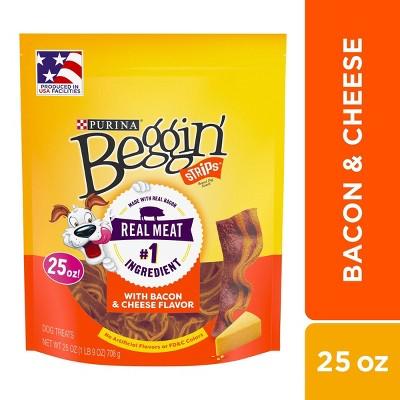 Purina Beggin Strips Bacon & Cheese Flavor 25oz