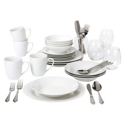 10 Strawberry Street 40-pc. Dinnerware Set - White Solid