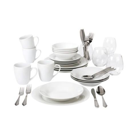 10 Strawberry Street 40-pc. Dinnerware Set - White Solid