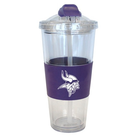 Minnesota Vikings Boelter Brands 2 Pack No Spill Tumbler with Straw 22 oz
