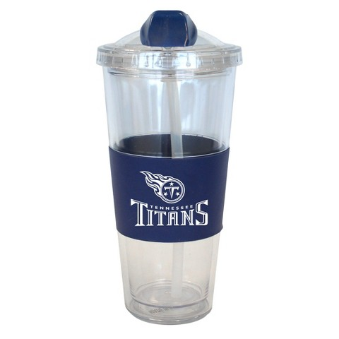 Tennessee Titans Boelter Brands 2 Pack No Spill Tumbler with Straw 22 oz