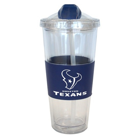 Houston Texans Boelter Brands 2 Pack No Spill Tumbler with Straw 22 oz
