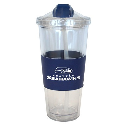 Seattle Seahawks Boelter Brands 2 Pack No Spill Tumbler with Straw 22 oz