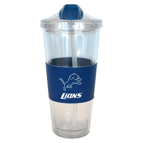 Detroit Lions Boelter Brands 2 Pack No Spill Tumbler with Straw 22 oz