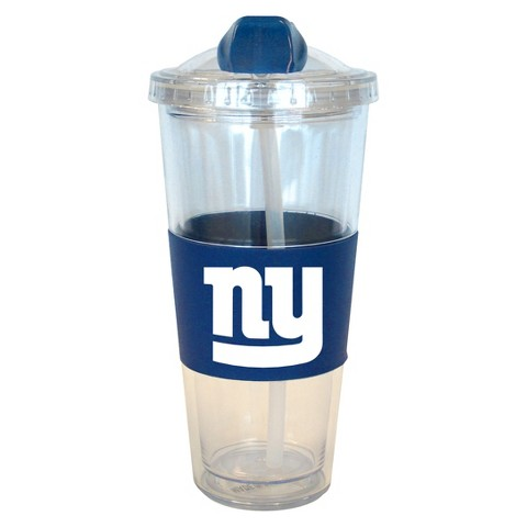 New York Giants Boelter Brands 2 Pack No Spill Tumbler with Straw 22 oz