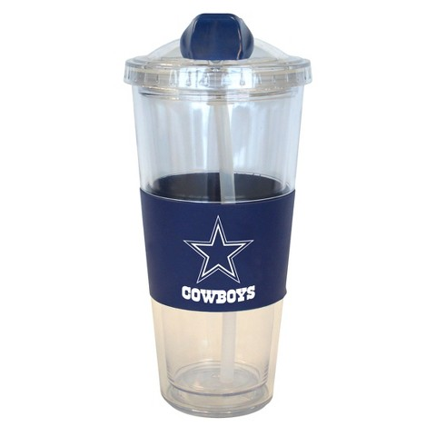 Dallas Cowboys Boelter Brands 2 Pack No Spill Tumbler with Straw 22 oz