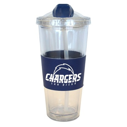 San Diego Chargers Boelter Brands 2 Pack No Spill Tumbler with Straw 22 oz