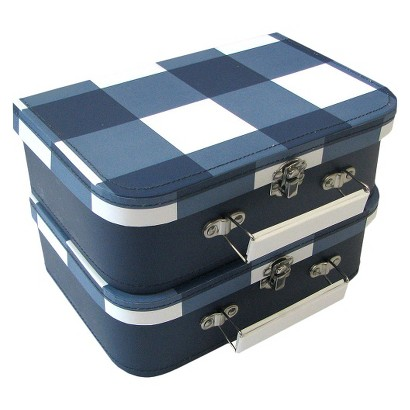 Circo™ Small Paperboard Suitcase - Blue Plaid