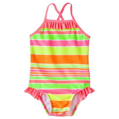 Circo® Infant Toddler Girls' Stripe 1-Piece Swimsuit