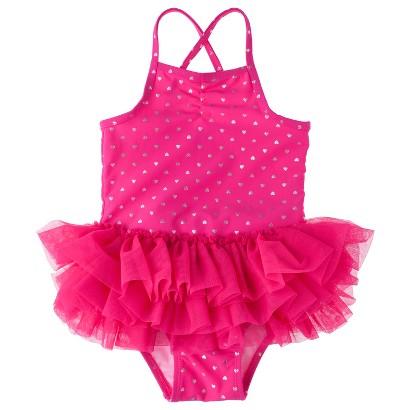 Circo® Infant Toddler Girls' Heart Tutu 1-Piece Swimsuit