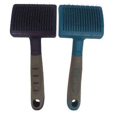 Pet Self-Cleaning Brush Long or Dense Coats 1 ct Colors May Vary - Boots & Barkley™