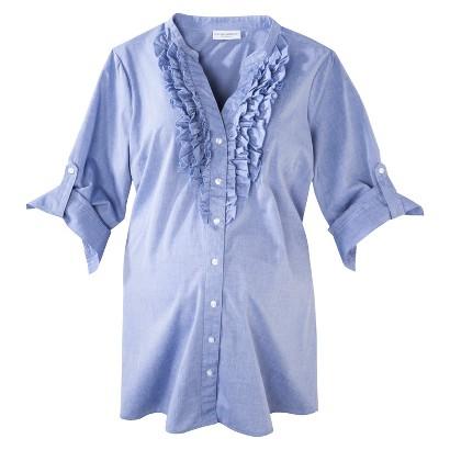 Maternity 3/4 Sleeve Ruffled Shirt-Liz Lange® for Target®