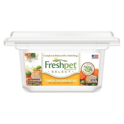 Freshpet Select Tender Chicken with Vegetables & Brown Rice Dog Food Recipe