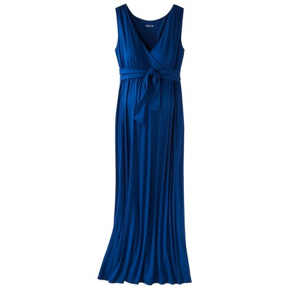 Maternity Sleeveless Tie Waist Maxi Dress