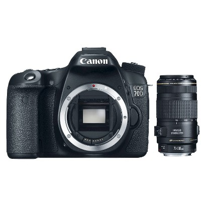 Canon E0S 70D 20.2MP Digital SLR Camera with 70-300mm Lens