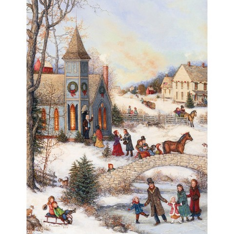 18ct Christmas Card Pack - Christmas Village