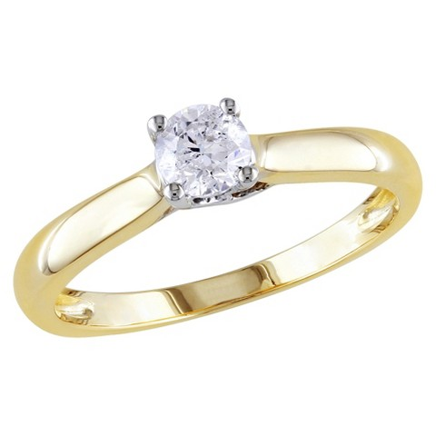 1/3 CT. T.W. Diamond in 14K White and yellow Gold Ring