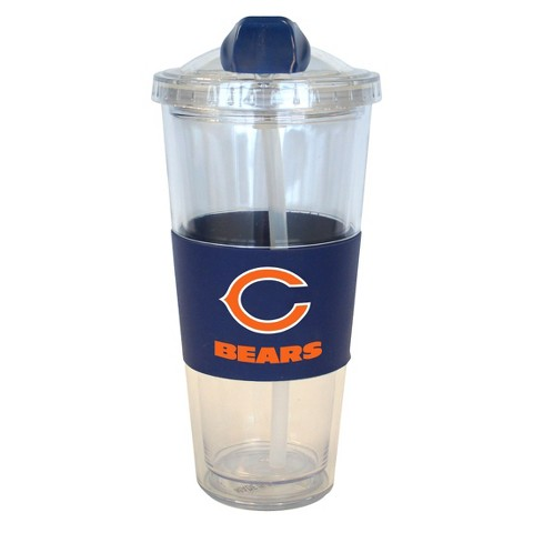 Chicago Bears Boelter Brands 2 Pack No Spill Tumbler with Straw 22 oz