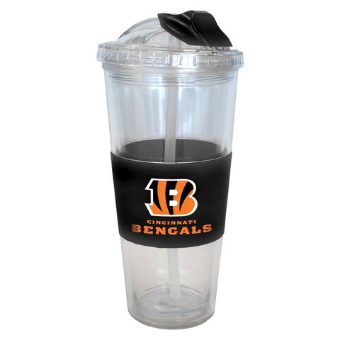 Cincinnati Bengals Boelter Brands 2 Pack No Spill Tumbler with Straw 22 oz