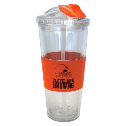 Cleveland Browns Boelter Brands 2 Pack No Spill Tumbler with Straw 22 oz
